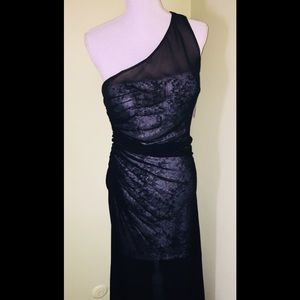 STUNNING Aidan Mattox Black Silk Gown-NWT-Size 8